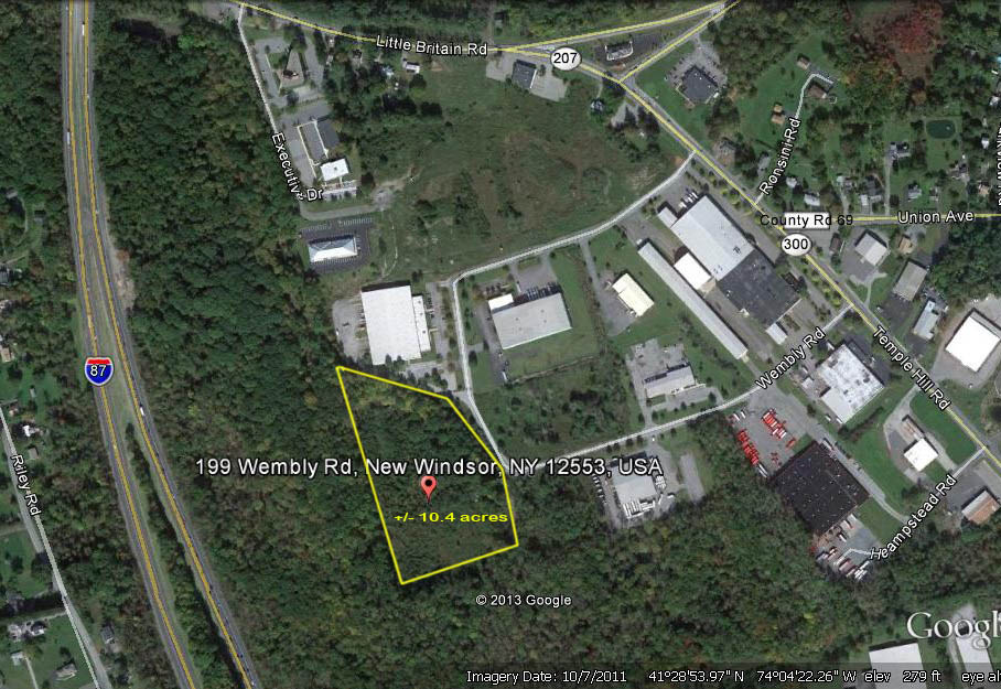 10.4 Acres of Planned Industrial Land – 199 Wembly Road, New Windsor, NY 12553