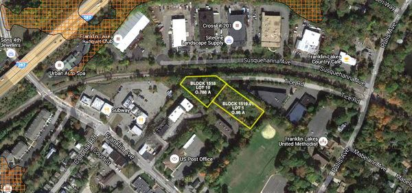 Two 1.7 Acre Lots in Retail Business District – 793 Franklin Avenue, Franklin Lakes, NJ  07417