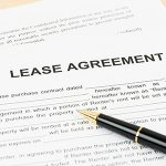 close up of a lease agreement